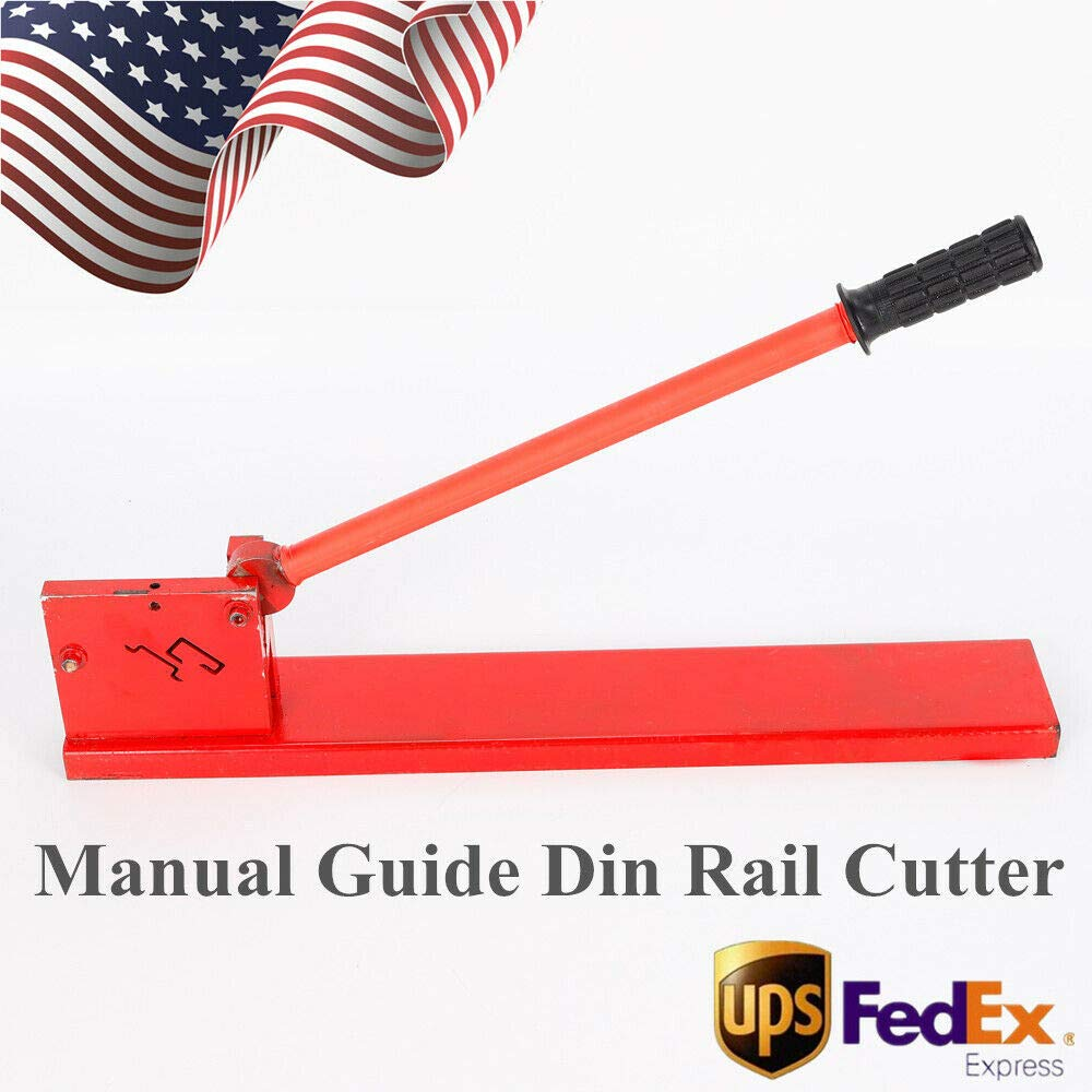 Din Rail Cutter Tool, Manual Guide Cutting Machine Professional Cutter Tools DIY Two Groove for Rail, Steel Rail, G Type Rail by MONIPA (Image #1)