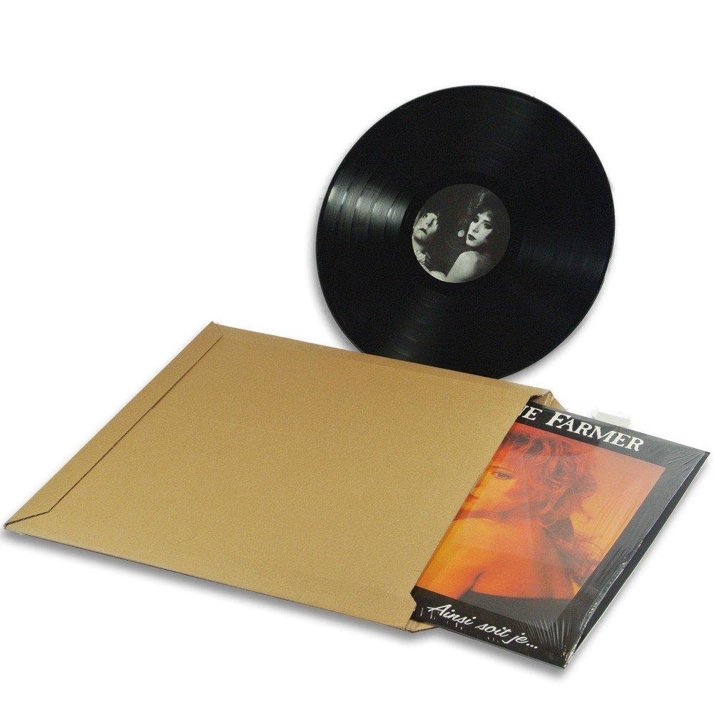 Lot de 100 Enveloppes carton vinyle 33 tours format 350x350 mm