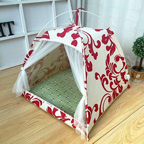 YIXIN Chats et chiens Chambre d'animal de compagnie Chinoise Tente de vent Style Rangement pliable Four Seasons disponible S / M / L ( taille : L-60*60*60cm )