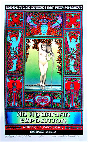 Woodstock Wallkill Poster Full Sized Poster New Artist Proof Created and Hand Signed By Original Illustrator David Byrd