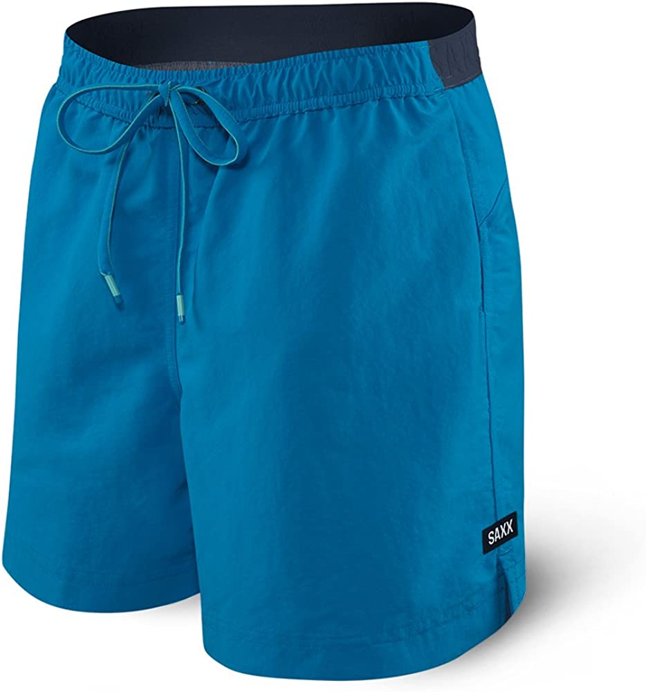 Saxx Underwear Mens Cannonball 2N1 Pure Blue Regular Swim Shorts with Ballpark Pouch Large