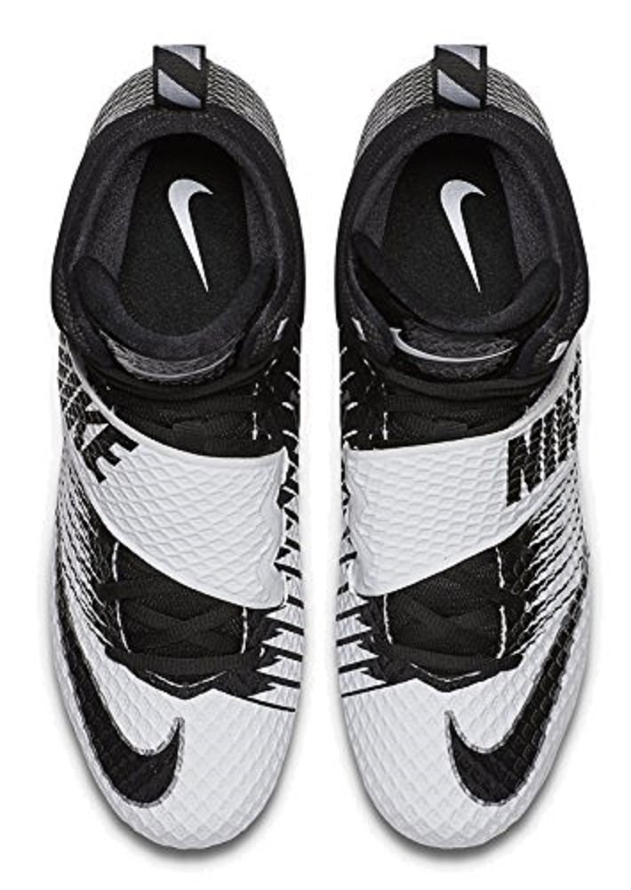 Nike Lunarbeast Pro D Football Cleats (8 D(M) US, White / Black-Black) by Nike (Image #3)