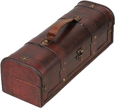 Mxfan - Estuche de madera para vino, diseño vintage: Amazon.es: Bricolaje y herramientas