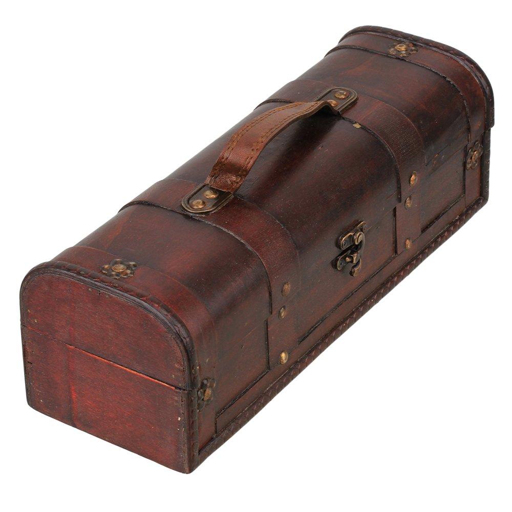 Mxfans Wooden Vintage Wine Case Holder Storage Box Gift Box in European Retro Style