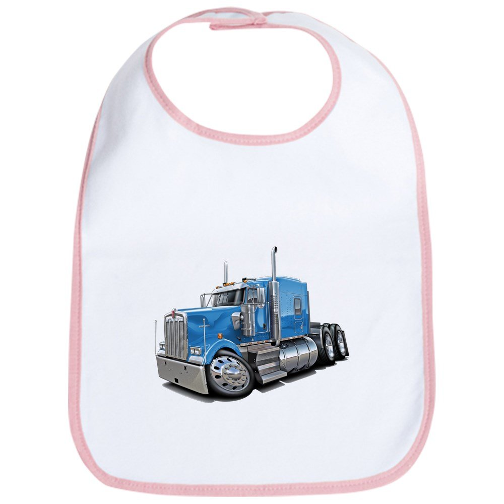 CafePress - Kenworth W900 Lt Blue Truck Bib - Cute Cloth Baby Bib, Toddler Bib
