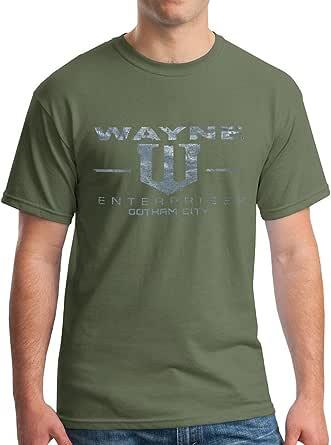 New York Fashion Police Wayne Enterprises T-Shirt - Vintage Metallic Silver Print