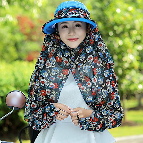 Lady's visor, bleu