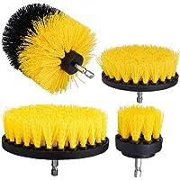 Borrmaskin Rengöringsborste Polering Brush borrmaskin Brush Set Yellow Rengöring Scrub borstar satsen 4st