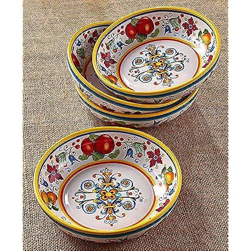 Set of 4 Pasta Bowl Set  sc 1 st  Amazon.com & Pasta Dishes: Amazon.com