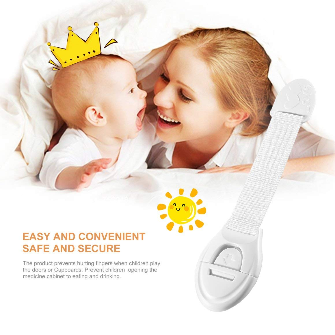 Funnyrunstore Infant Baby Kids Toddler Safety Nevera Caj/ón Puerta Gabinete Alacenas Cerraduras para el hogar Alargadas para ni/ños Seguridad para ni/ños