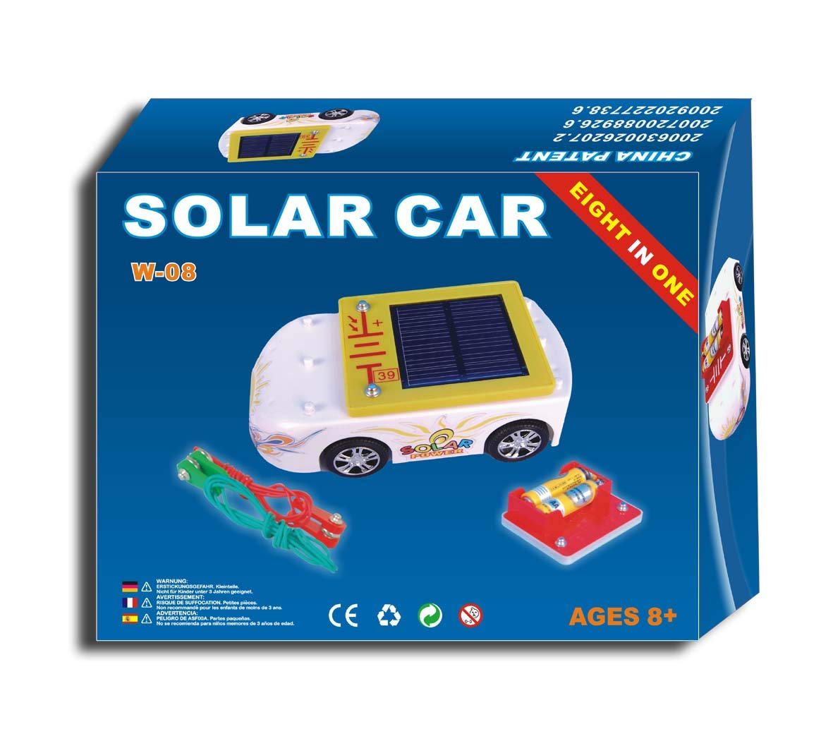 Solar Car Educational Kit. 5 Snap on Design.