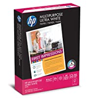 HP Printer Paper, Multipurpose20, 8.5 x 11, Letter, 20lb, 96 Bright, 500 Sheets / 1 Ream (212500R) Made In The USA