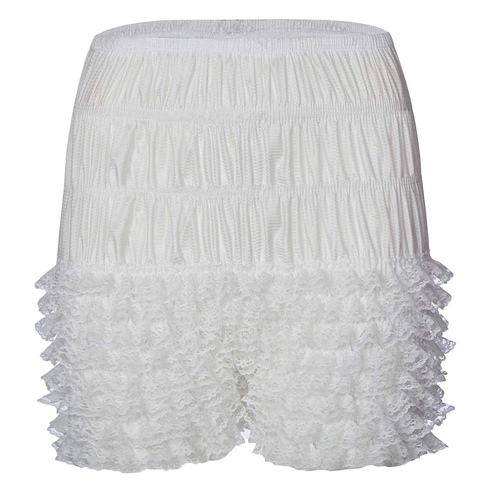 ZAKIA Womens Tiered Ruffle Frilly Lace Pettipants Underwear Bloomers