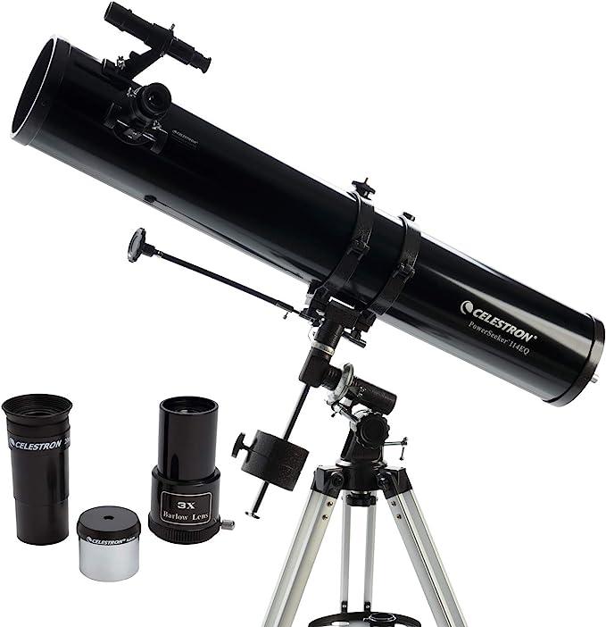 Celestron Powerseeker 114 EQ - Telescopio reflector: Amazon.es: Electrónica
