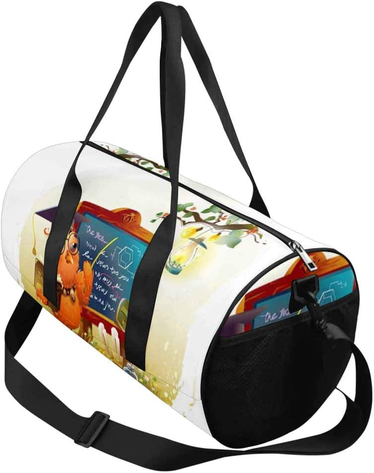 INTERESTPRINT Owl Doctor Education Weekend Bag Travel Duffel Bag