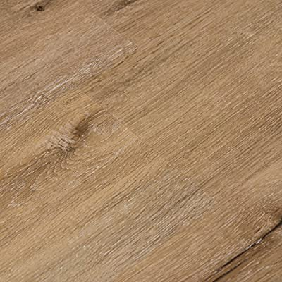 Cali Bamboo - Cali Vinyl Plus Cork-Backed Vinyl Floor, Extra Wide, Aged Hickory Wood Grain - Sample