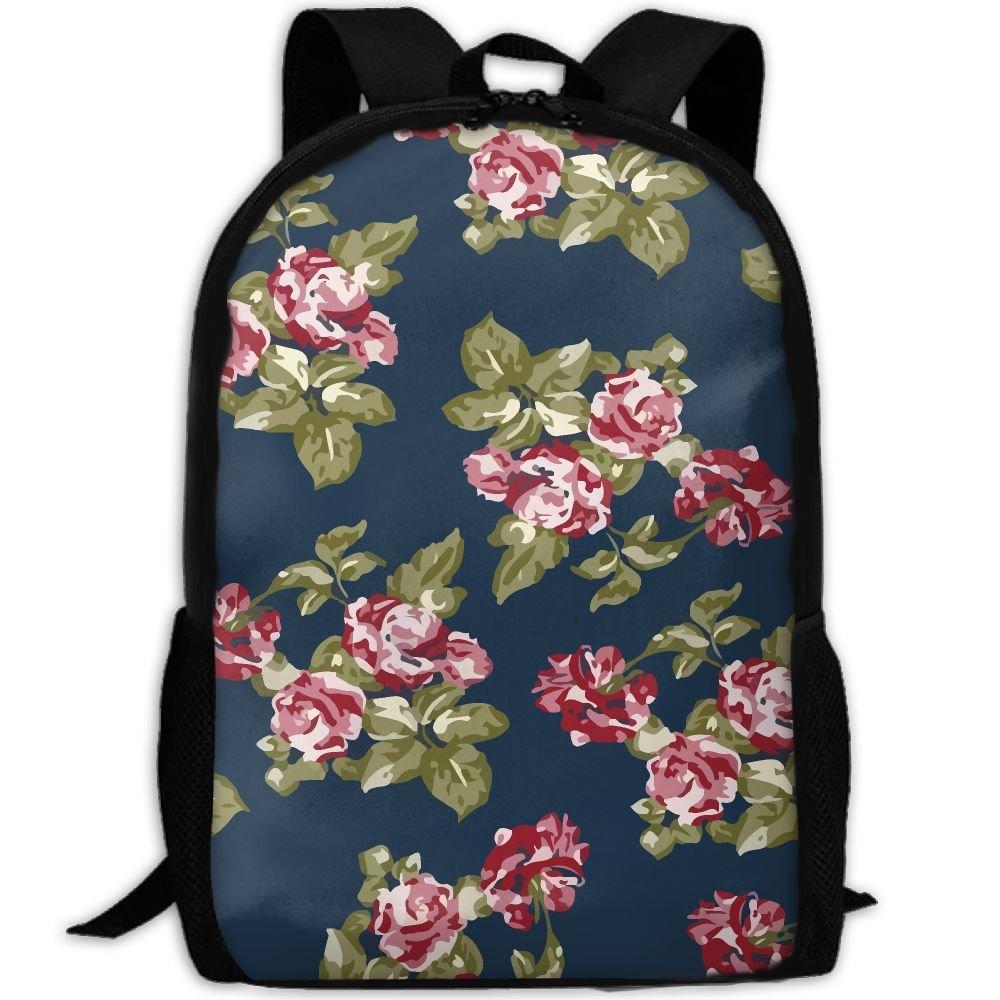 OIlXKV Flower Printing Print Custom Casual School Bag Backpack Multipurpose Travel Daypack For Adult