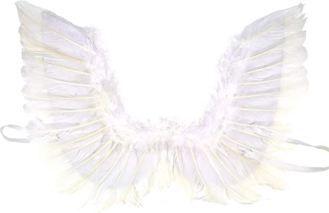 White Feather Angel Wings Stage Cosplay Christmas Fancy Dress Costume Adult Kids