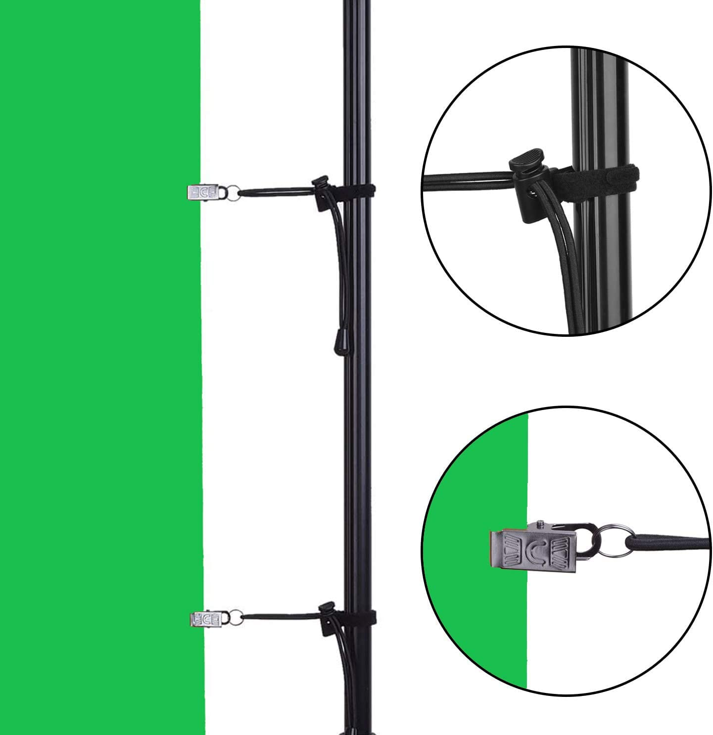 TANIASH Photo Video Studio Backdrop Stand,8.5x10ft Adjustable Backdrop Stands Background Support Kit with Carry Bag