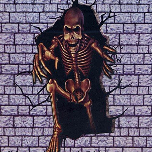 Halloween Horror Skeleton Monster Break Out Scene Setter Add (Spooky Halloween Scene For Kids)