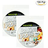 WRAPOK Air Fryer Liner 8 inch Round Perforated Parchment Bamboo Steamer Paper 100 Count Non-stick for Baking Steaming Basket Cooking Cake Pans Circle