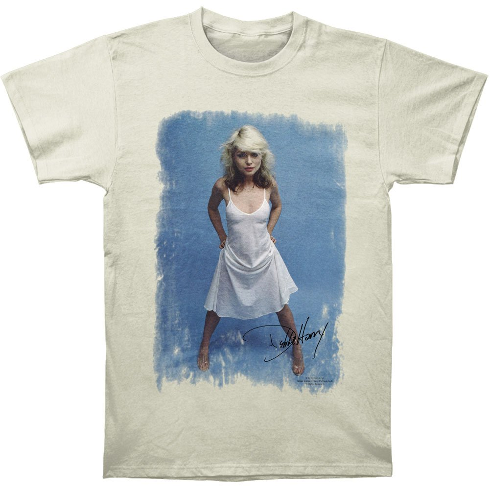 Impact Debbie Harry Singer Songwriter White Dress Adult Fitted Jersey T-Shirt Tee