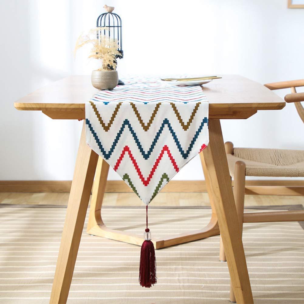 Shuangdeng テーブルクロス防水、滑り止め、オイルルーフ、清掃が簡単、テーブルフラッグ、カバータオル、キャビネットフラッグ、ベッドフラグ (Color : 33×220cm)  33×220cm B07S98P864