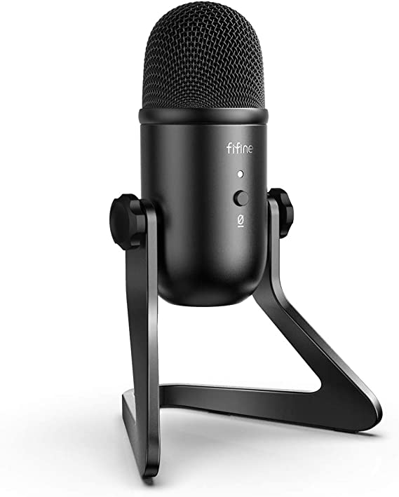 Amazon.com: FIFINE USB Podcast Microphone for Recording Streaming on PC and Mac,Condenser Computer Gaming Mic for PS4.Headphone Output&Volume Control,Mic Gain Control,Mute Button for Vocal,YouTube.(K678)