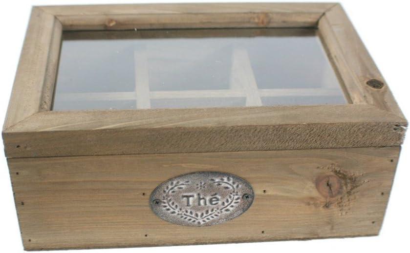 CAL FUSTER - Caja de madera para infusiones con 6 separadores ...