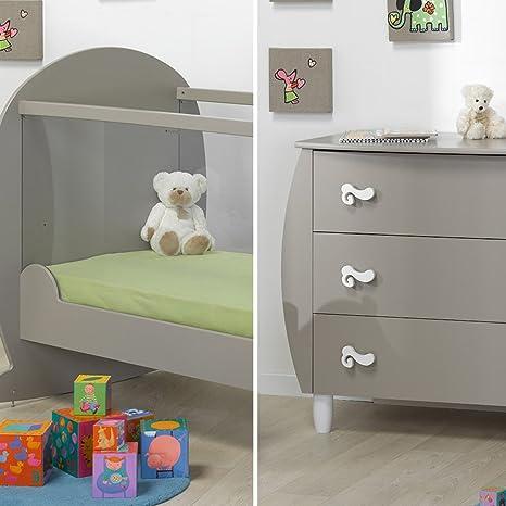 Cuna 60 x 120 y cómoda cambiador LOUPIOT gnomo – Lin: Amazon.es: Bebé