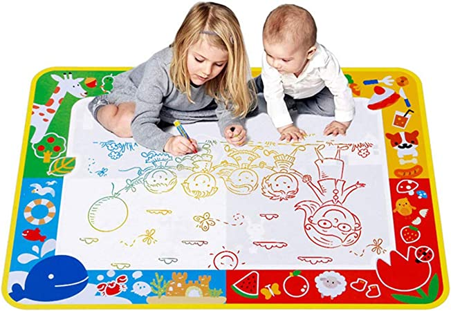 Kids Magic Doodle Mat 27 6 39 4 In Water Drawing Mat With 3 Pens Larger Doodle Pad Educational Toys Coloring Magic Mats For Baby Toddler Amazon Co Uk Kitchen Home