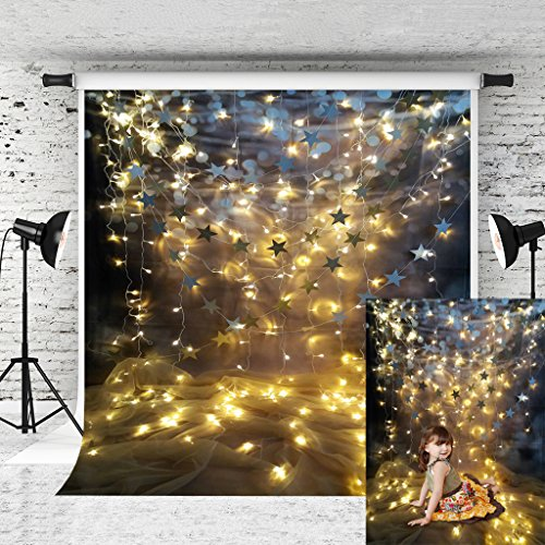 Kate 5x7ft Glitter Star Light Backdrops for Photography Shining Stars Backdrop Stage Decoration Background Photo Studio Props -