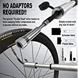 VeloChampion Alloy Mini Extender Bike Pump Black/Silver