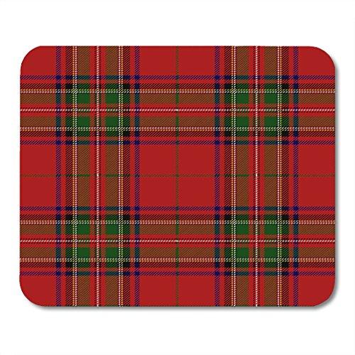 Nakamela Mouse Pads Culture Red Checkered Clan Stewart Scottish Royal Tartan Plaid Stuart Detailed Mouse mats 9.5