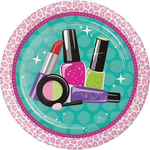 Cedar Crate Market Sparkle Spa Party Supplies Pack for 16 Guests - Stickers, Dinner Plates, Luncheon Napkins, Cups, and Table Cover by Cedar Crate Market (Image #3)