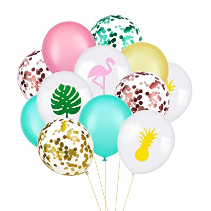 Amazon.com: Hapy Shop Hawaii - Globos tropicales de fiesta ...