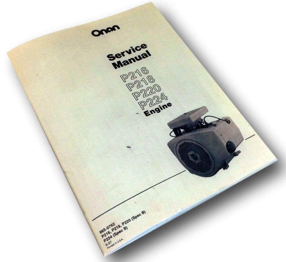 Case 1816c Uni Loader Onan Engine Service Repair P216 Wiring Diagram Overhaul Manual Industrial Scientific