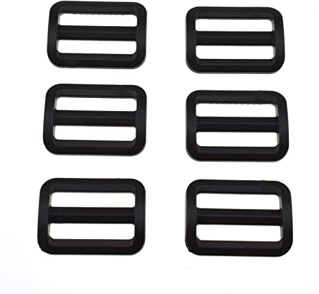 Hao Pro 2 Inch Tri Glides Slides Clips Buckles Gripping Knurled Edge No Slipping Solid 4 Pack for Collars Aprons Sling Bag Adjustable Straps Belt Big Slots No Sharp Edges No Sewing