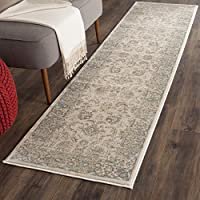 Safavieh Vintage Collection VTG571A Transitional Oriental Ivory and Light Blue Distressed Runner (22 x 12)