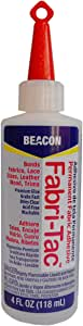 Beacon Fabri-Tac Permanent Adhesive, 4-Ounce (FT4D) - 1 Pack