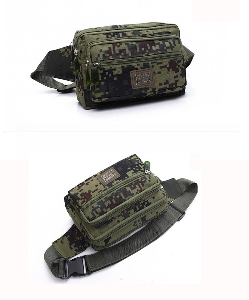 Portable Hip Belt Bag Water-Resistant Fanny Pack Outdoor Waterproof Tactical 4-pouch Waist Bag for Hiking Travel Hiking Camping Mountain Climbing Senmir Camouflage Tactical Waist Bag