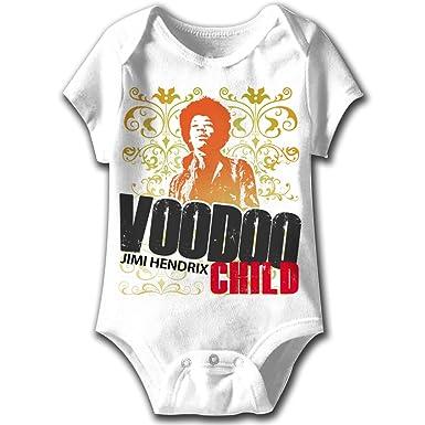 Amazon Com Jimi Hendrix Baby Romper Voodoo Child White Infant