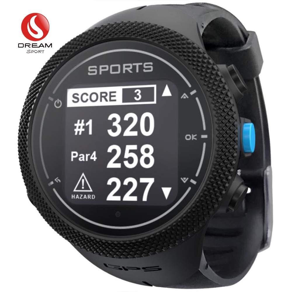 DREAM SPORT GPS Golf Watch Course Rangefinder Measure Shot and Recording Score DGF301 (Black)
