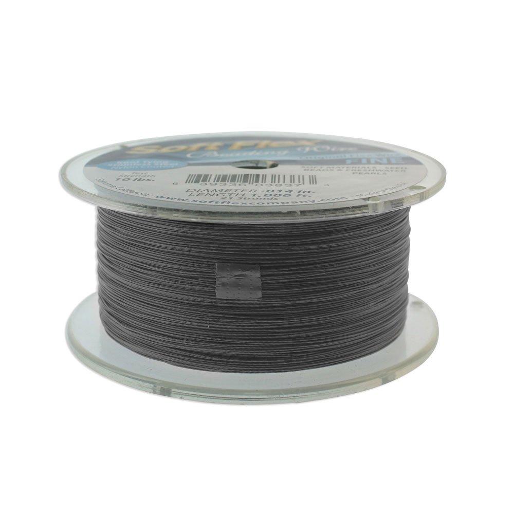 Soft Flex, 21 Strand Fine Beading Wire .014 Inch Thick, 304.8 Meter (1000 Foot) Bulk Spool, Satin Silver by Soft Flex (Image #2)