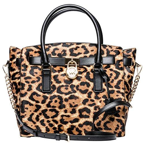MICHAEL Michael Kors Hamilton Large Leopard Calf Hair Satchel , - Mk Bag Leopard
