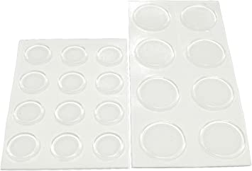 """You Get 2 Packs Of 20 1//2/"""" Round Self-Stick Clear Plastic Bumpers 20 Piece"""