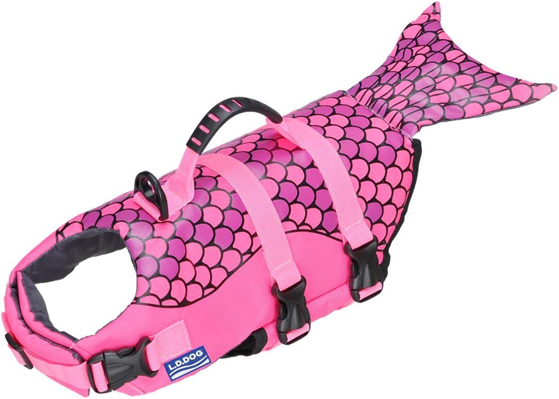 Ajustable Tiras Reflectantes Chaleco Salvavidas Piscina Traje de ba/ño de protecci/ón Songway Chaleco Salvavidas para Perro Barcos de Playa
