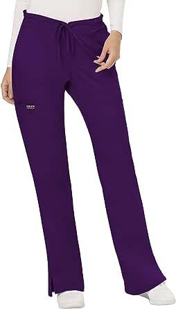 CHEROKEE Workwear Revolution WW120 Women's Mid Rise Moderate Flare Drawstring Pant