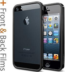 Spigen Neo Hybrid EX Slim Vivid iPhone 5S Case for iPhone 5S/5 - Soul Black