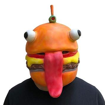 Zolimx Abrazo Equipo Líder Fortnite Oso Máscara Juego de Fusión Cara de Látex Adulto Traje Cosplay